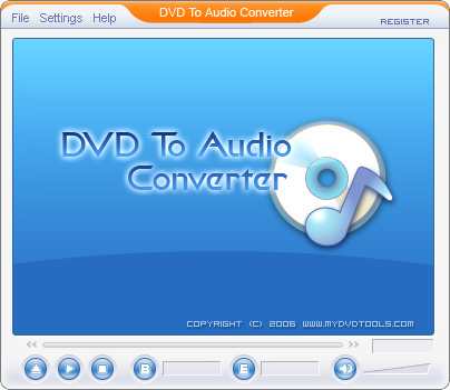 DVD To Audio Ripper Screenshot