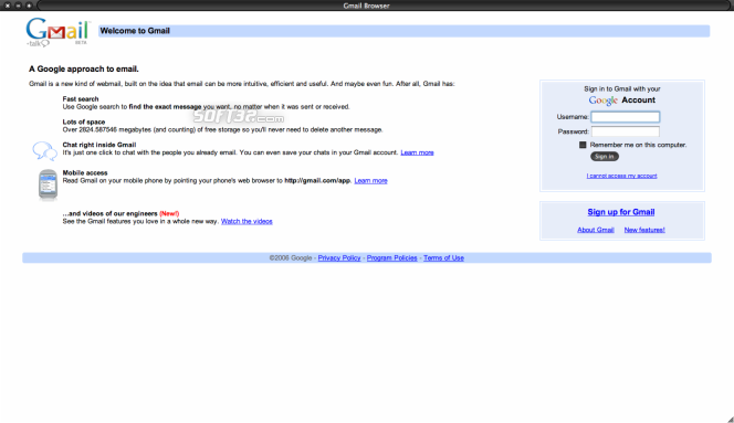 Gmail Browser Screenshot