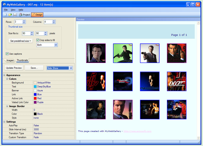 MyWebGallery Screenshot 1