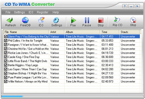 CD To WMA Converter Screenshot 1
