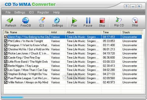 CD To WMA Converter Screenshot 2