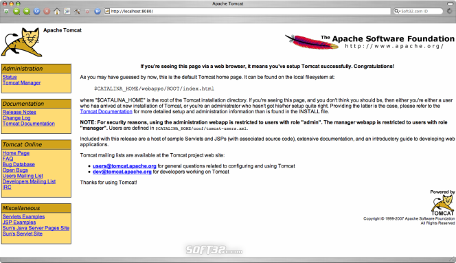 Apache Tomcat Screenshot 2