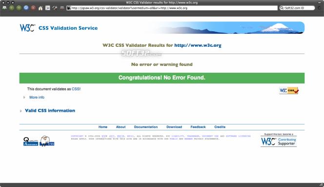 W3C Tool Kit Screenshot 2