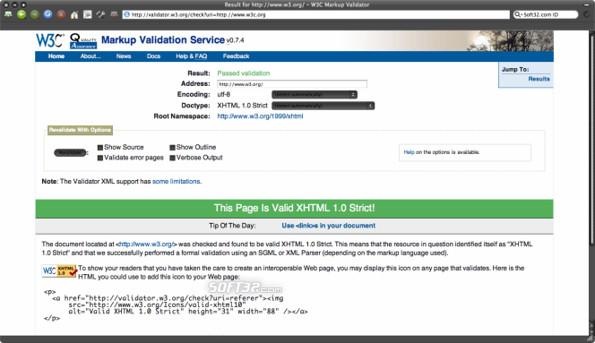 W3C Tool Kit Screenshot 3