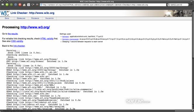 W3C Tool Kit Screenshot 4
