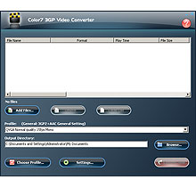 Color7 3GP Video Converter Screenshot