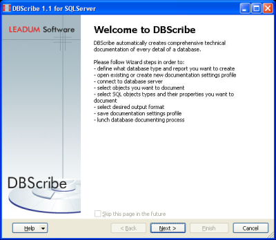 DBScribe for SQL Server Screenshot 3