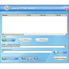 McFunSoft PSP Video Converter Screenshot 2
