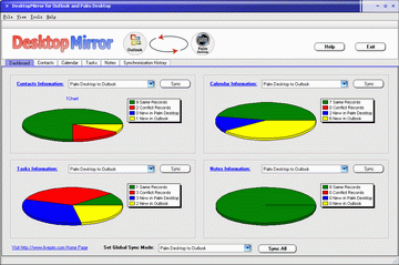 DesktopMirror for Outlook Palm Desktop Screenshot 1