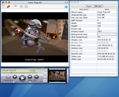 SWF & FLV Player for Mac Screenshot