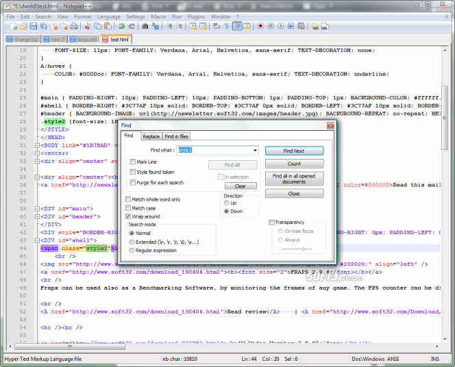 Notepad++ Screenshot 3