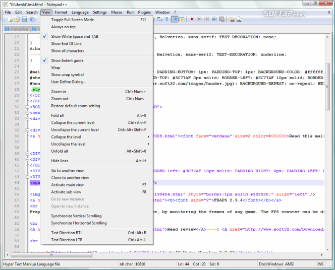 Notepad++ Screenshot 4