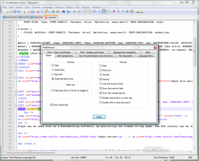 Notepad++ Screenshot 5
