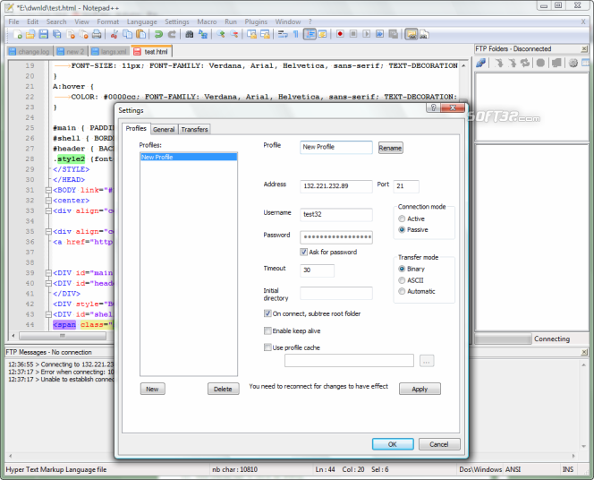 Notepad++ Screenshot 6