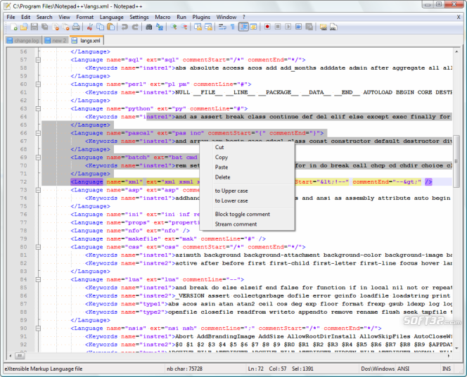 Notepad++ Screenshot 2