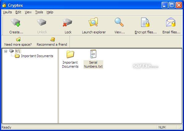 Cryptex - 60 GB Vault Screenshot 1