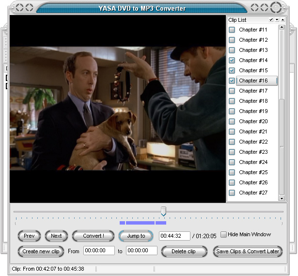 YASA DVD to MP3 Converter Screenshot