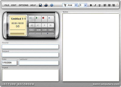 Lecture Recorder Screenshot