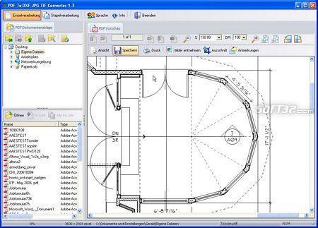 PDF To DXF JPG TIF Converter Screenshot 3