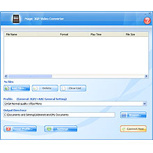 Magic 3GP Video Converter Screenshot 1