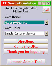AutoKeys: AutoType Software Screenshot
