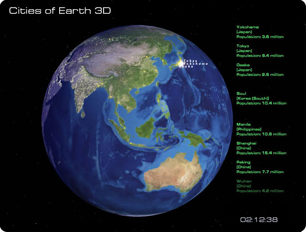 Cities of Earth Free 3D Screensaver Screenshot