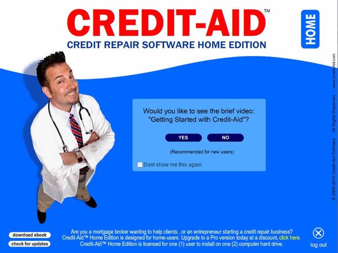 Credit-Aid Credit Repair Software Screenshot 1