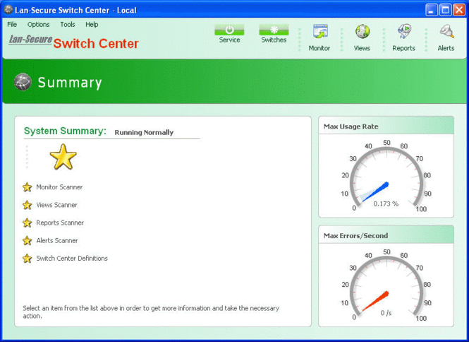 Switch Center Workgroup Screenshot