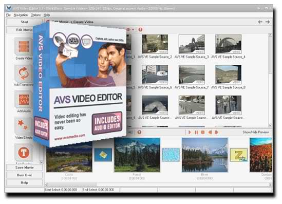 A V S - VIDEO Editor Screenshot
