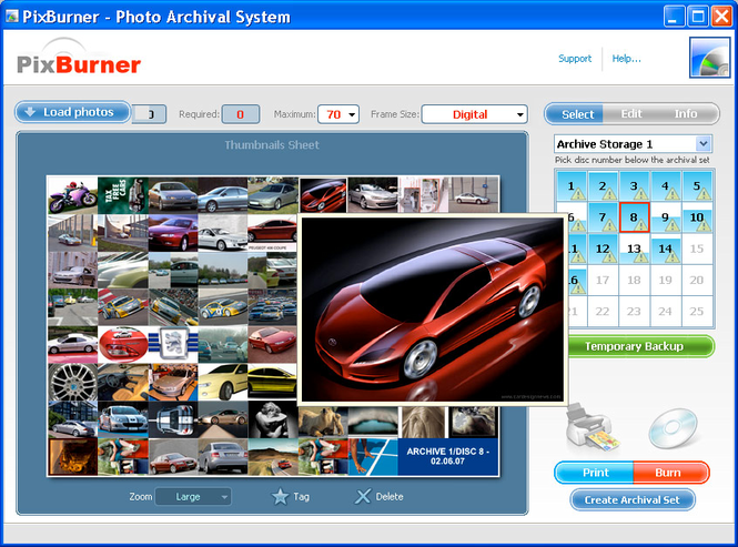 PixBurner Screenshot 2
