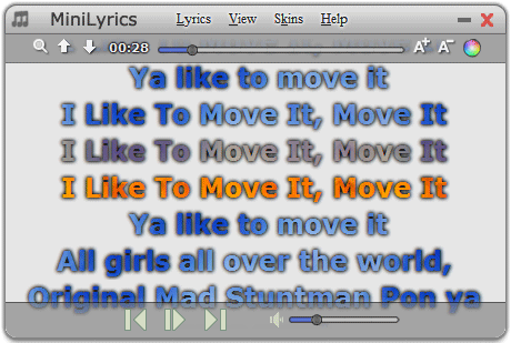 MiniLyrics Screenshot 1