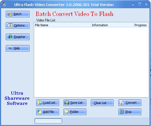 Ultra Video To Flash Converter Screenshot