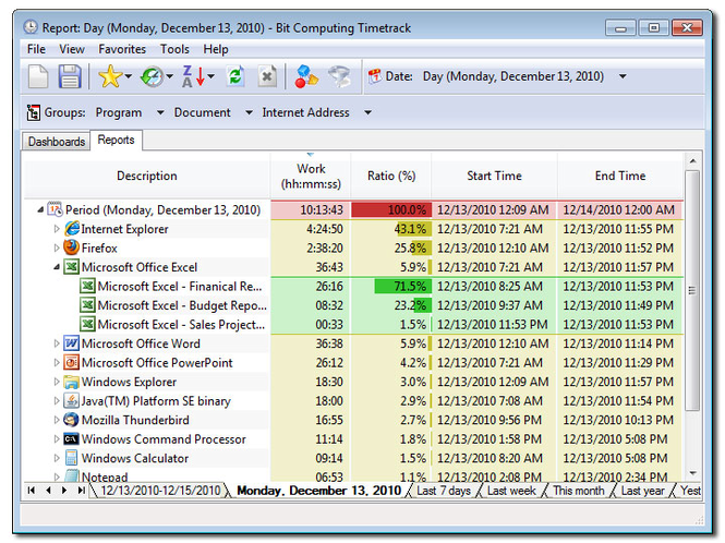 TimeTrack Professional Screenshot