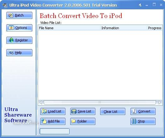 Ultra Video To iPod Converter Screenshot 3