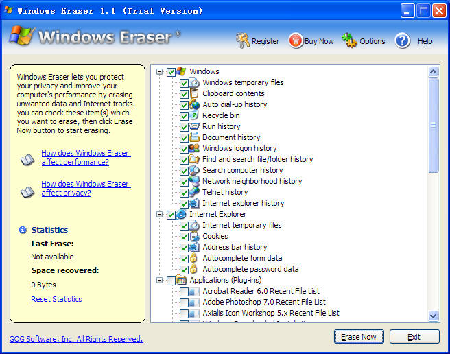 Windows Eraser Screenshot 1