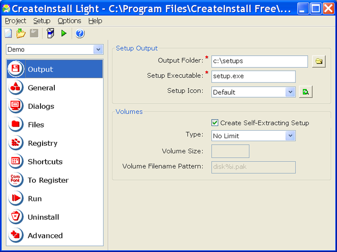 CreateInstall Light Screenshot