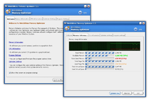 WinUtilities Memory Optimizer Screenshot