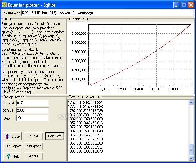 Equation  Plotter - EqPlot Screenshot 3