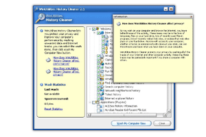 WinUtilities History Cleaner Screenshot