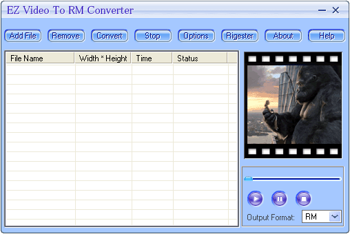 EZ Video To RM Converter Screenshot