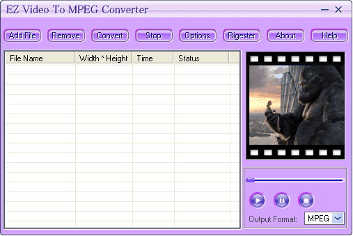 EZ Video To MPEG Converter Screenshot