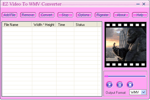EZ Video To WMV Converter Screenshot