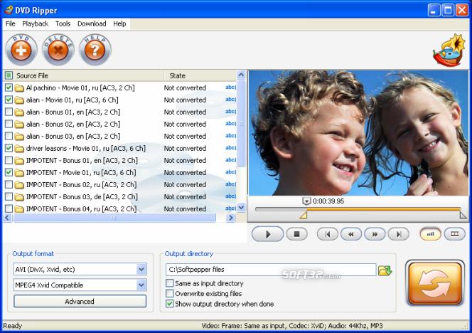 SoftPepper DVD Ripper Screenshot