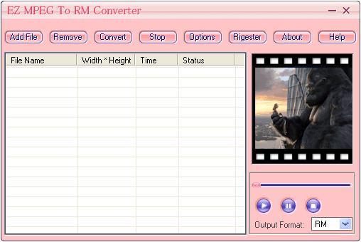 EZ MPEG To RM Converter Screenshot 1