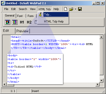 DzSoft WebPad Screenshot
