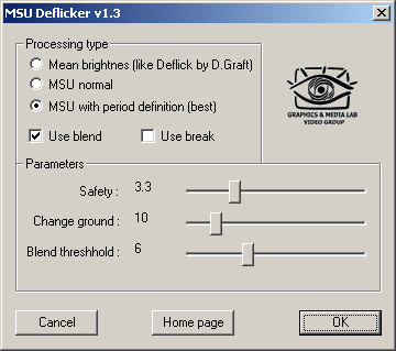 MSU Deflicker VirtualDub plugin Screenshot