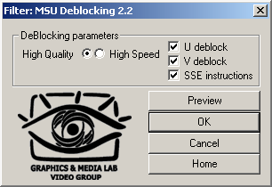Video MSU Deblocking VirtualDub plugin Screenshot