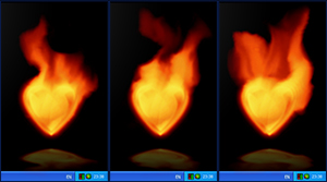 Fire Heart Desktop Gadget Screenshot