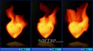 Fire Heart Desktop Gadget Screenshot 2