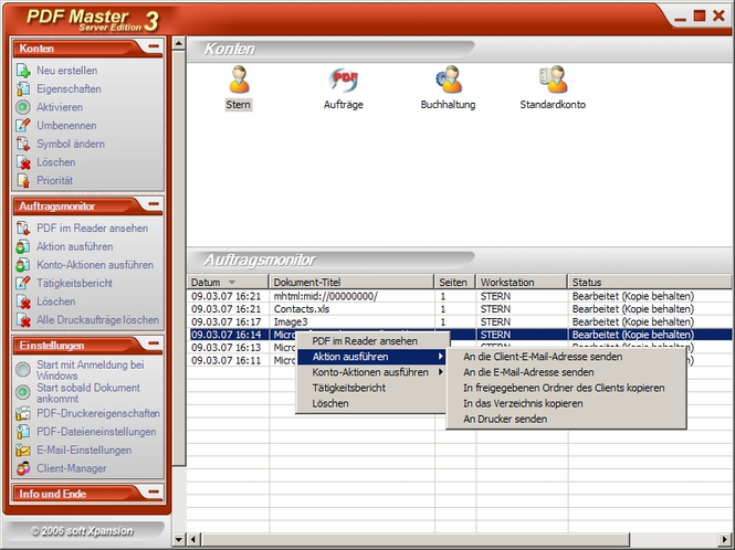 PDF Master Server Edition Screenshot